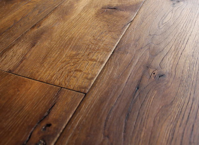 Large wide plank hardwood floors look amazing