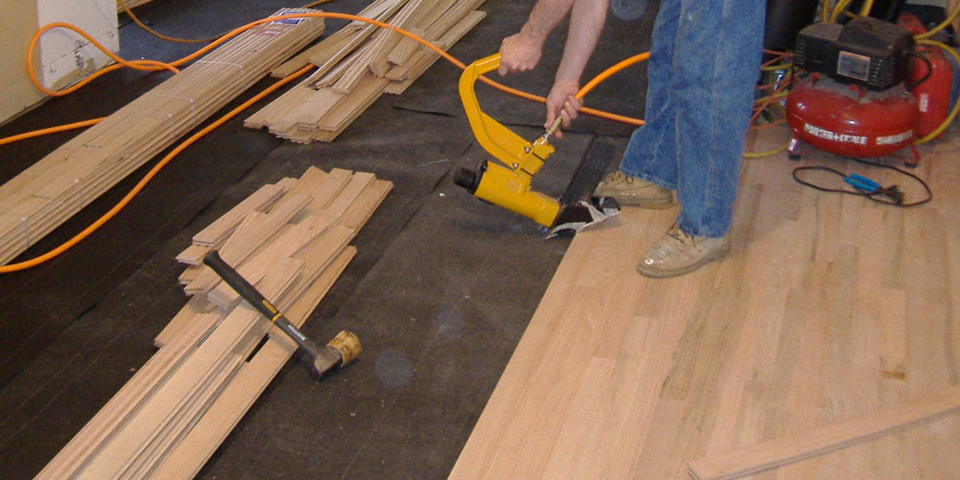 flooring installation modern house