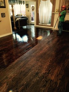 Apply Poly for Hardwood Refinishing