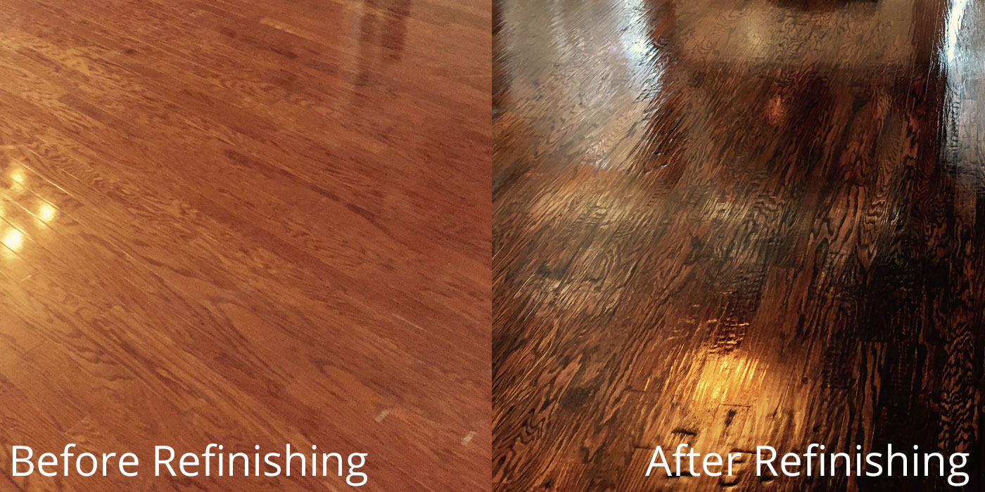Hardwood Floor Refinishing Client in Fort Worth