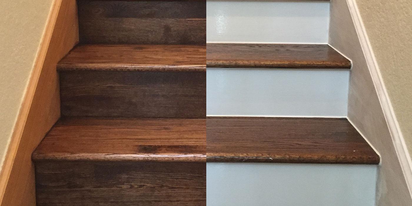 Paint Hardwood Risers
