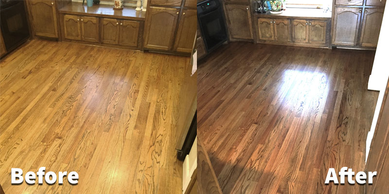 Hardwood Refinishing Before and After