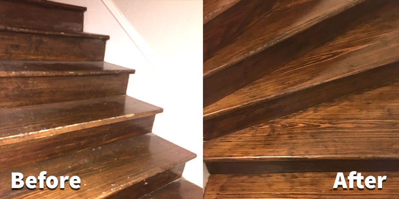 High Quality Hardwood Stair Refinishing