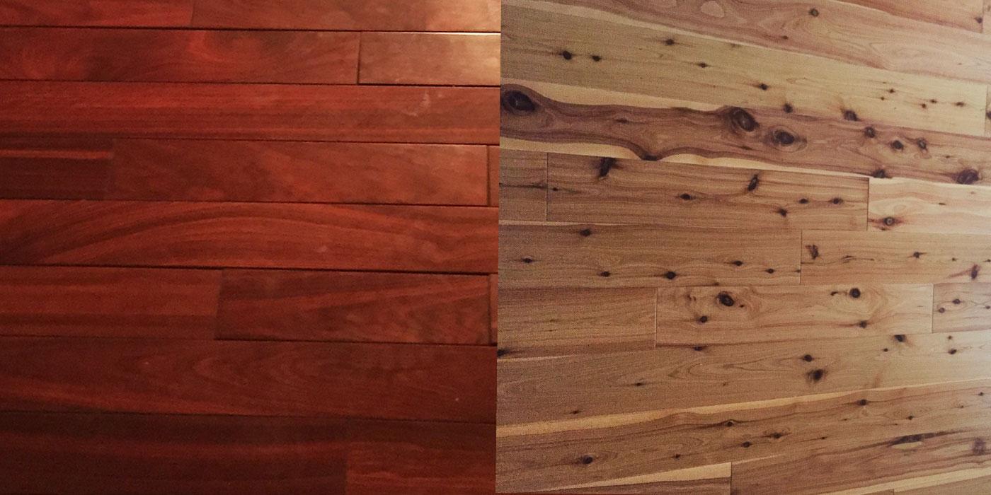 Dark to Light Hardwood Refinish