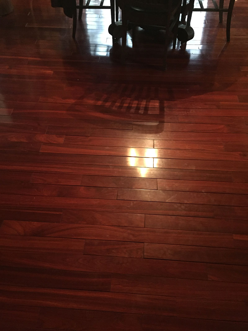 Dark Flooring Before Refinish