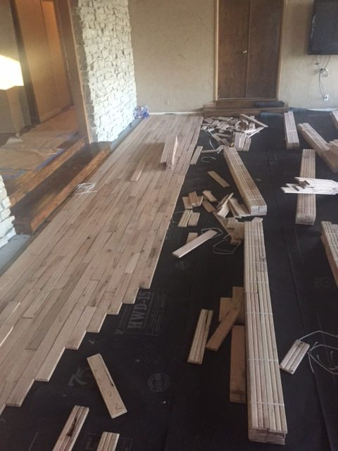 Hand scraped hardwood floor installation for Hardwood flooring 76262