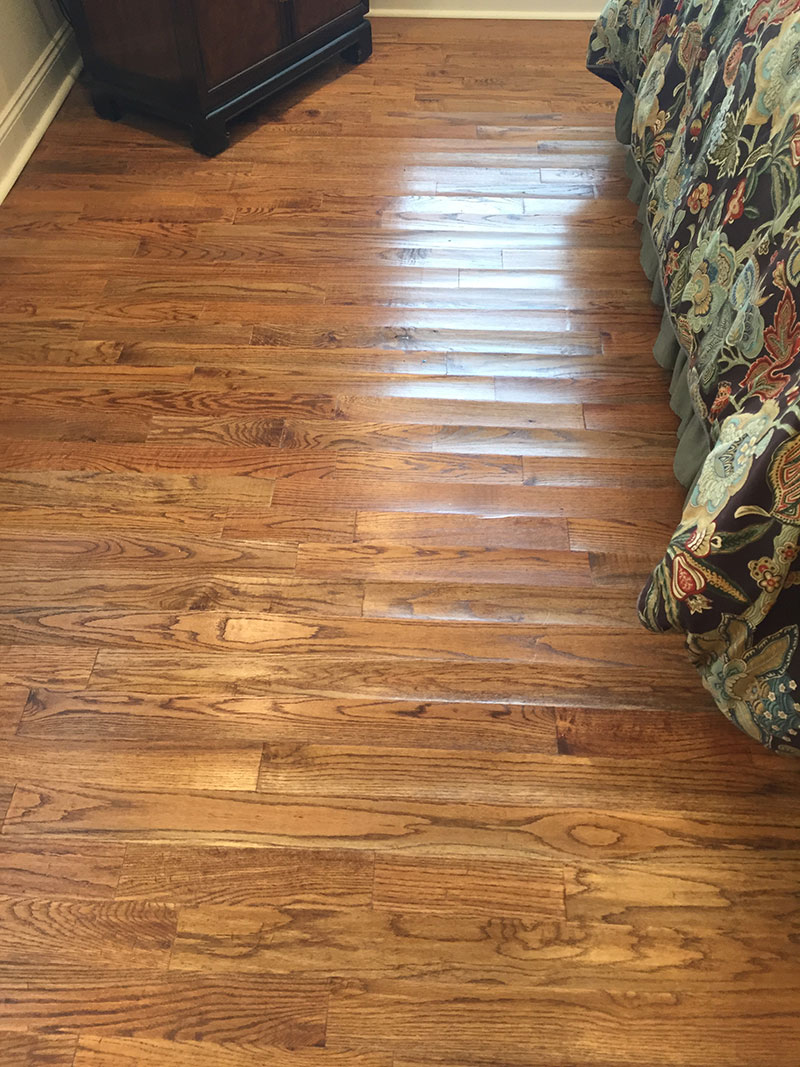 Hardwood Water Damage - Warping