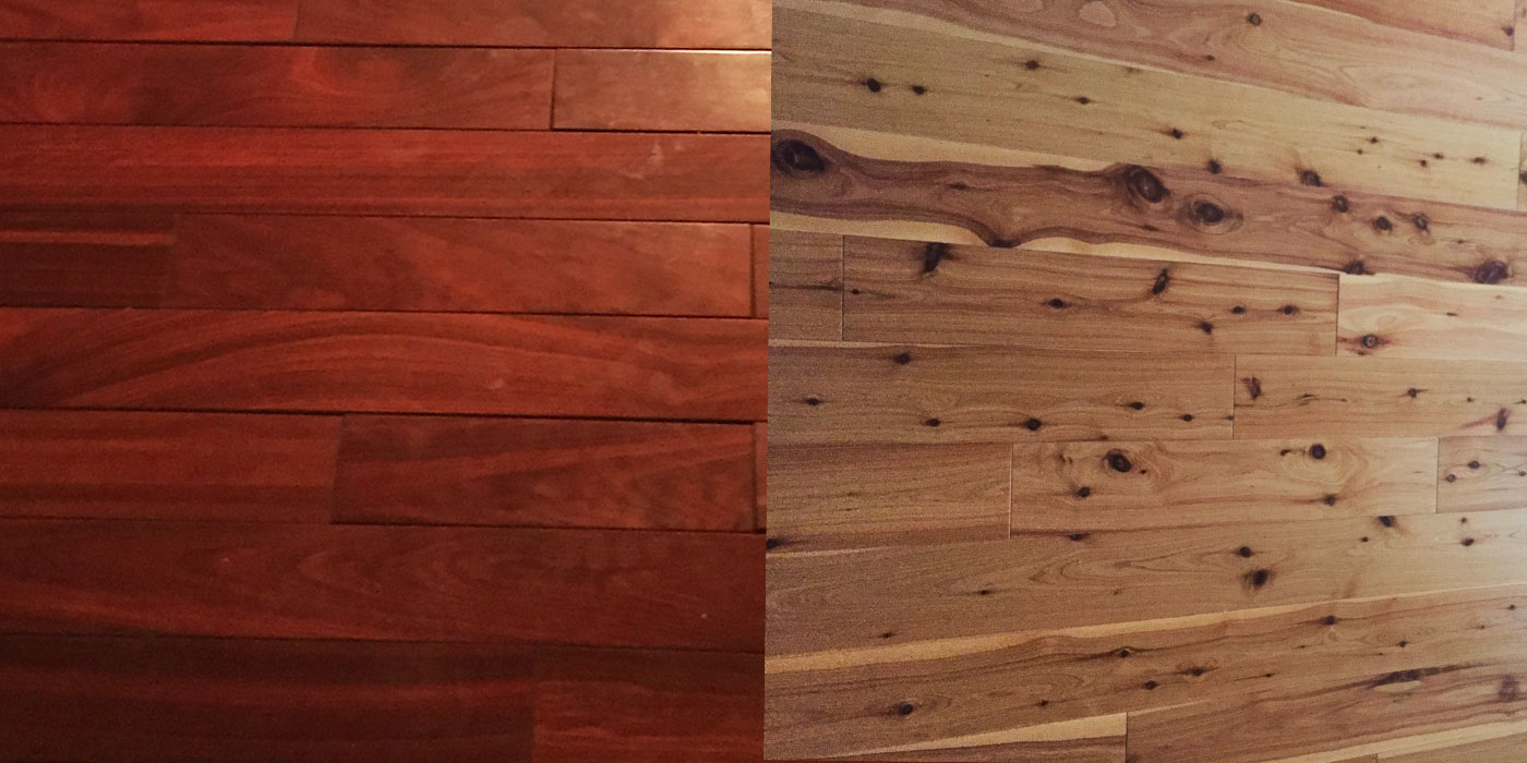 Dark to Light Hardwood Refinish