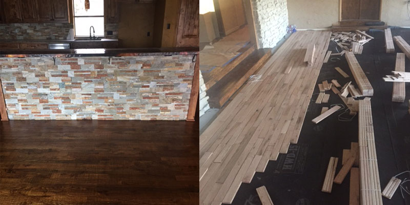 Hardwood Installation - Hand Scraped