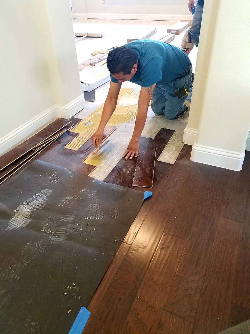 Glue down Engineered Hardwoods
