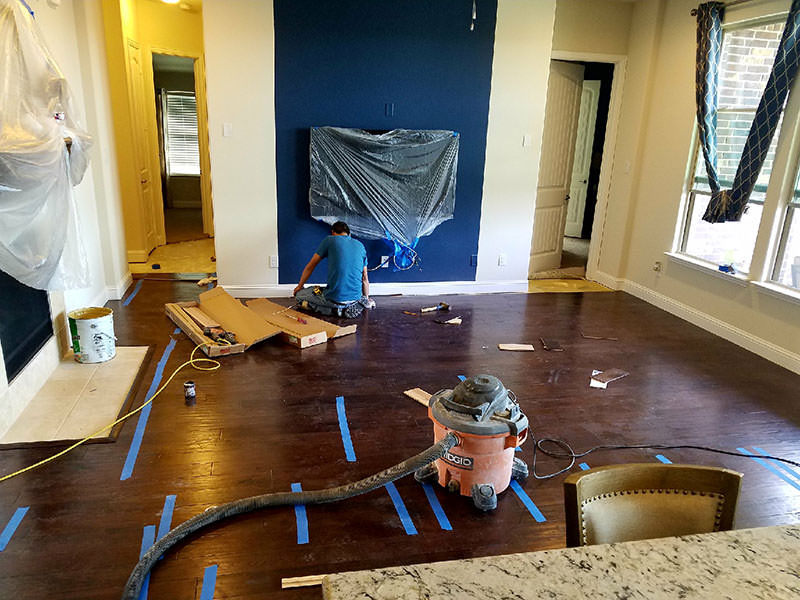 Prep for Hardwood Installation