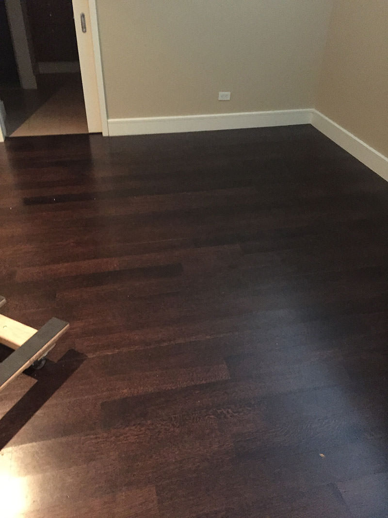 Before refinishing Hardwood Floors