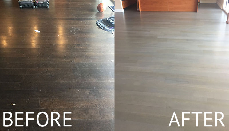 Dallas Hardwood Refinish - Before & After