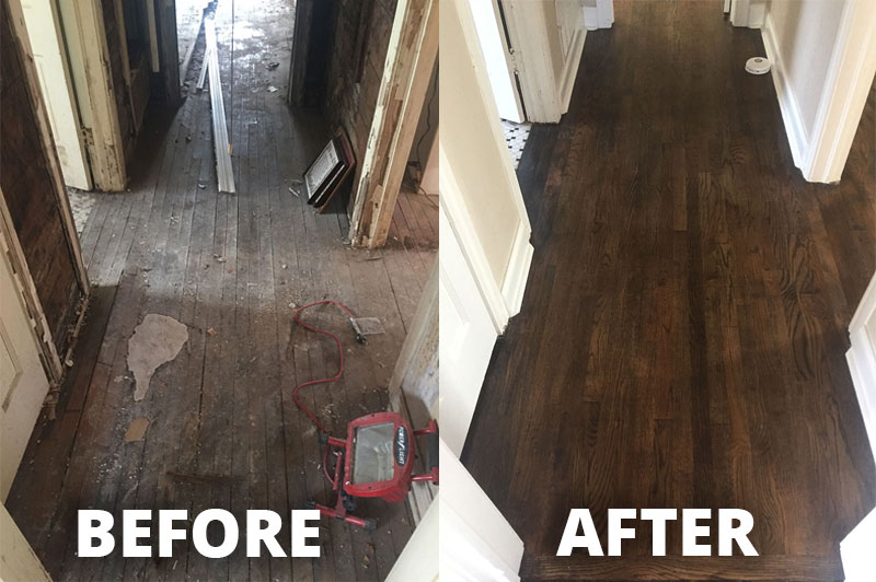 Before & After: Hardwood Refinish in Fort Worth