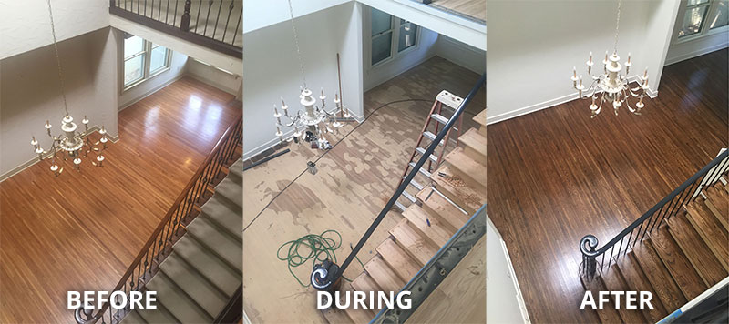 Before & After Hardwood Refinish & Installation
