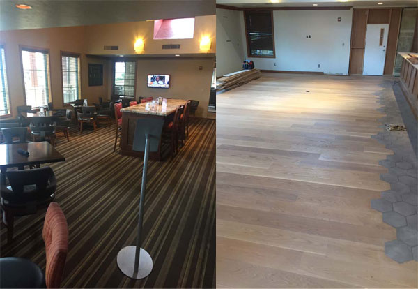 Timarron Country Club Hardwood Floor Installation